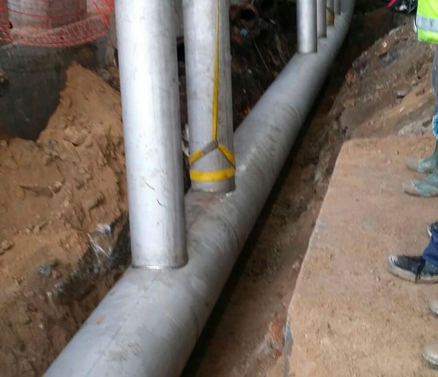 Demain ejecuta dos nuevas fases de la obra de abastecimiento de agua a Pontevedra y su Ría